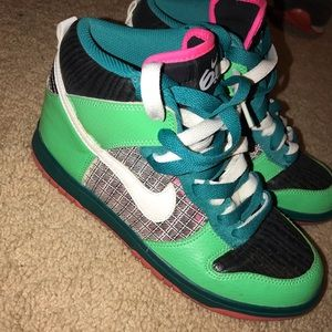 Nike Women's Dunk High 6.0 green brown white